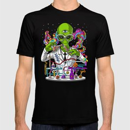 Alien Psychedelic Scientist T-shirt