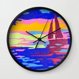 Evening Sail Wall Clock