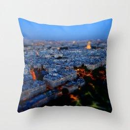 Little Blue Paris Throw Pillow