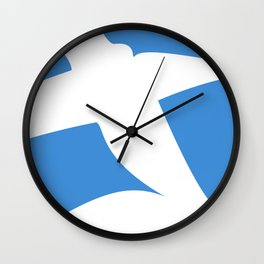 Greek Flag the Wisdom of God, Freedom and Country Wall Clock