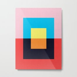 Colored Rectangles V Metal Print