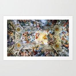 Allegory of Divine Providence and Barberini Power by Pietro Cortona (1639) Art Print
