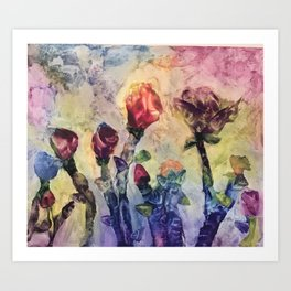 Le Fleurs Art Print