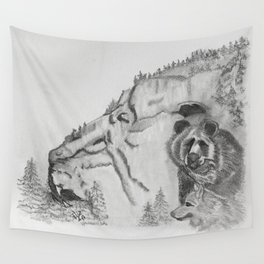 The Fairytale about the Wolf, Bear, and the Lion Wall Tapestry