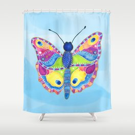 Butterfly II on a Summer Day Shower Curtain