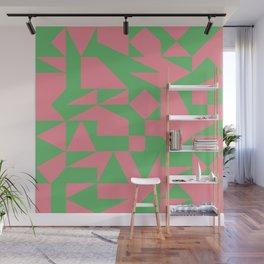 English Square (Pink & Green) Wall Mural