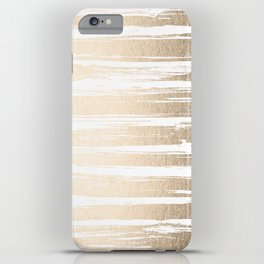 White Gold Sands Painted Stripes iPhone Case
