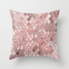 Mermaid Glitter Scales #8 (Faux Glitter) #shiny #decor #art #society6 Throw Pillow