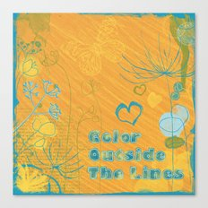 Color Outside The Lines Canvas Print