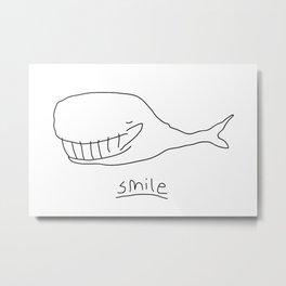 Cheshire Whale Metal Print