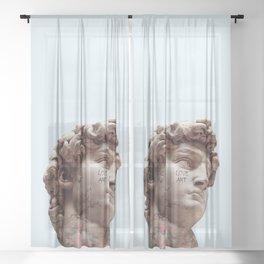 DAVID LOVES ART Sheer Curtain
