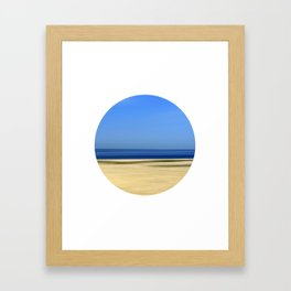 Beach Abstract One Framed Art Print