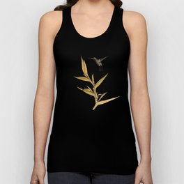 Hummingbird & Flower II Unisex Tank Top