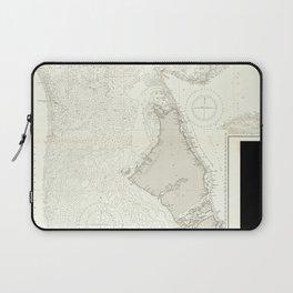 Vintage Map Print - Admiralty Chart No 1496 The Great Bahama Bank; Great Isaac (1844) Laptop Sleeve