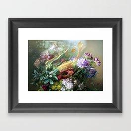 Mermaids' Magic Garden Framed Art Print
