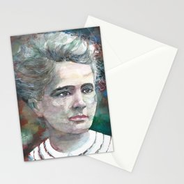 MARIE CURIE - watercolor portrait.2 Stationery Cards