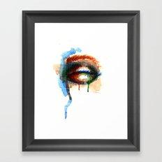 Watercolor Eye Framed Art Print