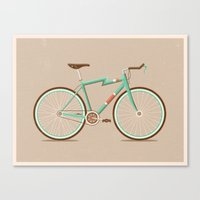 bicycle Canvas Prints featuring Bicycle by Daniel Mackey