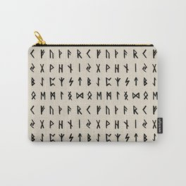 Nordic Runes // Whale Bone Carry-All Pouch