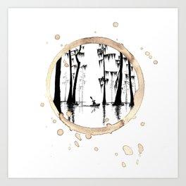 Coffee Stained On The Bayou-Louisiana Series Art Print