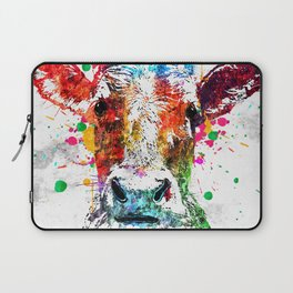 Cow Watercolor Grunge Laptop Sleeve