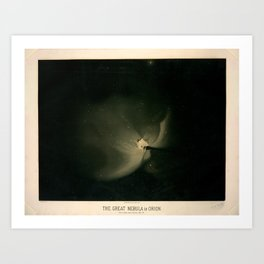 The great nebula in Orion by  Étienne Léopold Trouvelot (1875-1876) Art Print