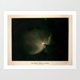 The great nebula in Orion by  Étienne Léopold Trouvelot (1875-1876) Kunstdrucke