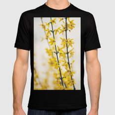 Mellow Yellow Black MEDIUM Mens Fitted Tee