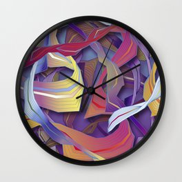Interaction (in purple) Wall Clock