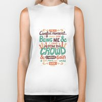 it crowd Biker Tanks featuring Crowd by Risa Rodil