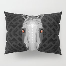Horse Pattern - Black version Pillow Sham