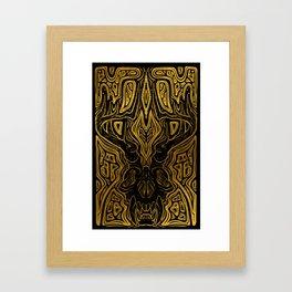 Elk Bones Gold Framed Art Print