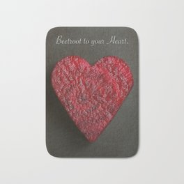 Beetroot to your Heart Bath Mat