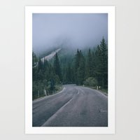 The road down the mountain Art Print