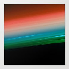 Orange Aqua Green Ombre Canvas Print
