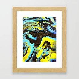 Sweetness 0010- Iridescent Fluid Painting Framed Art Print