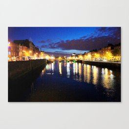 Liffey Twighlight Canvas Print