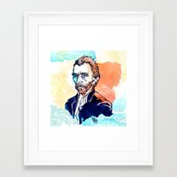 van gogh Framed Art Prints featuring Van Gogh by Jon Cain