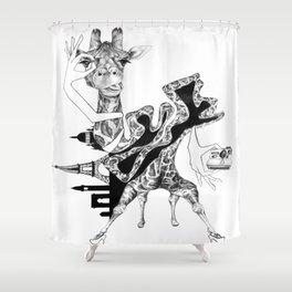 Giraffe and a Half Shower Curtain
