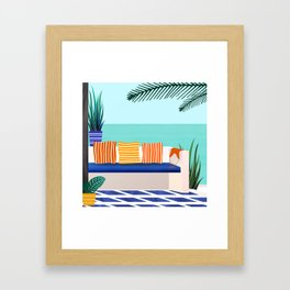 Tropical Villa On The Sea Framed Art Print