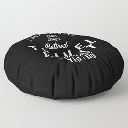 Travel Agent Work Job Title Gift Floor Pillow