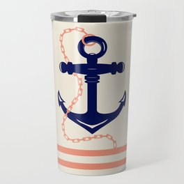 AFE Navy Anchor and Chain Travel Mug