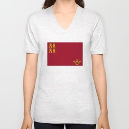 Murcia region flag spain province Unisex V-Neck