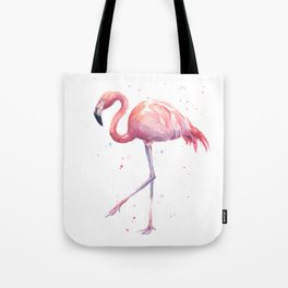 Flamingo Watercolor Pink Bird Tote Bag