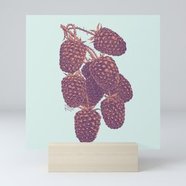 Vintage Blackberry Pattern Mini Art Print