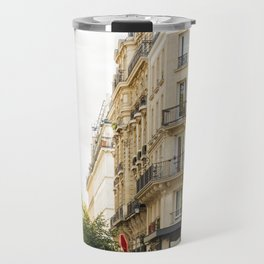 Walking through a parisian street Travel Mug