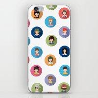 studio ghibli iPhone & iPod Skins featuring Studio Ghibli Flat by TubaTOPAL