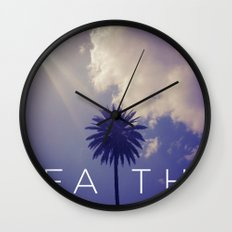 Palm Tree Faith Wall Clock