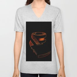 Copper Orange retRo Belt Unisex V-Neck