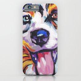 Fun AUSTRALIAN SHEPHERD Dog bright colorful Pop Art iPhone Case